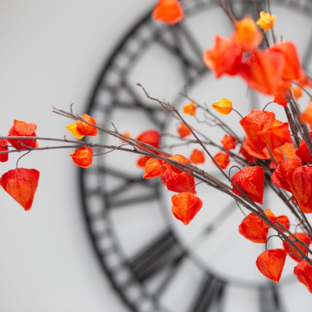 Chines lanterns and clock