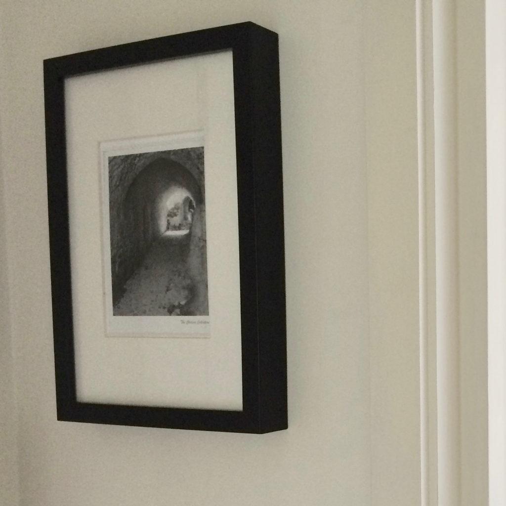 Islington flat hallway print