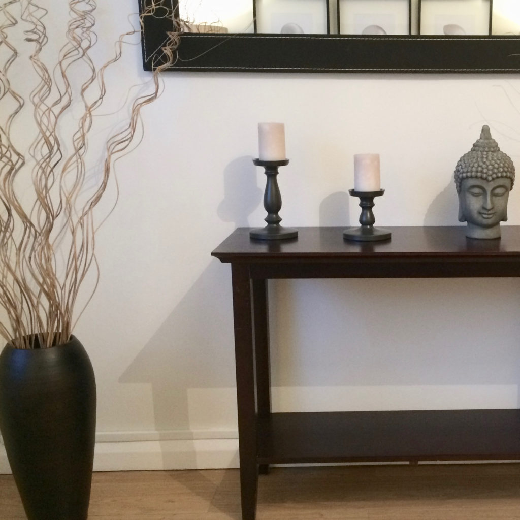 Archway flat console table