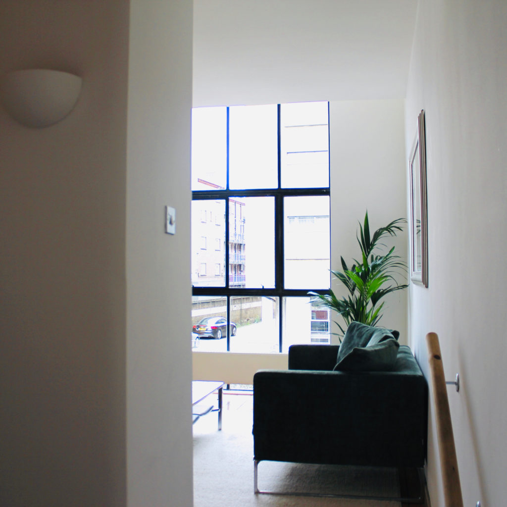 Islington town house view from hall after