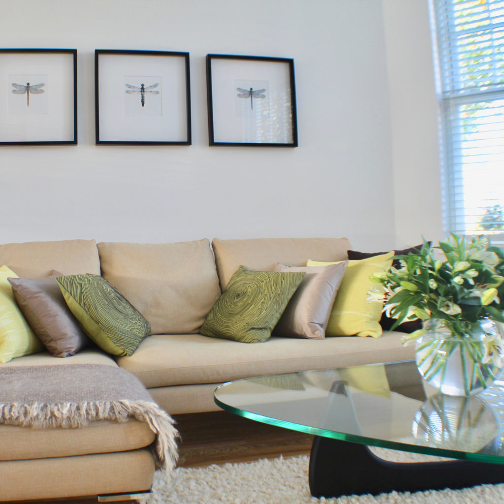 Muswell Hill L sofa and cushions