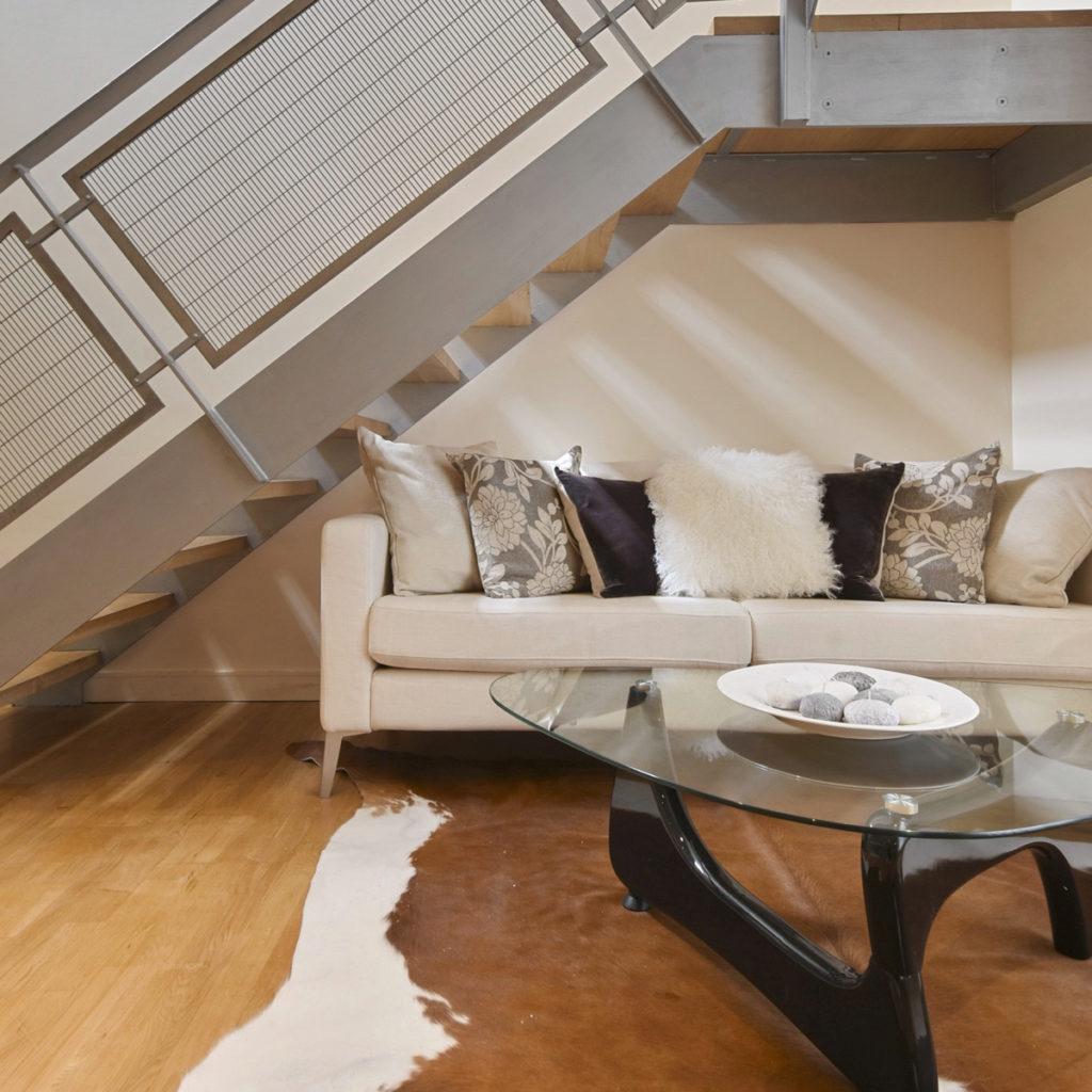 Islington maisonette basement sofa