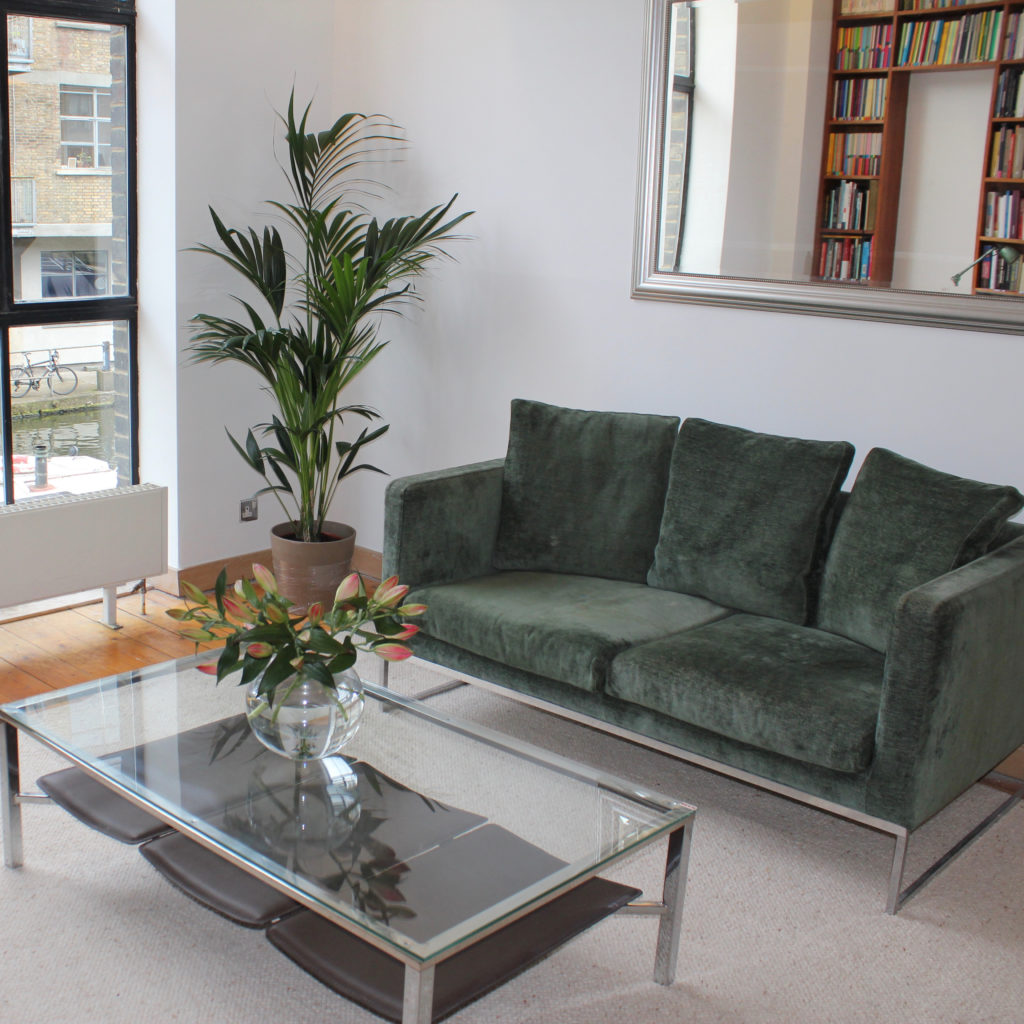 Islington town house living room after