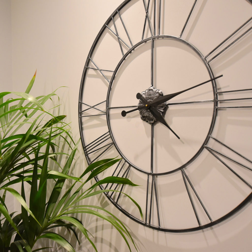 Clock and palm