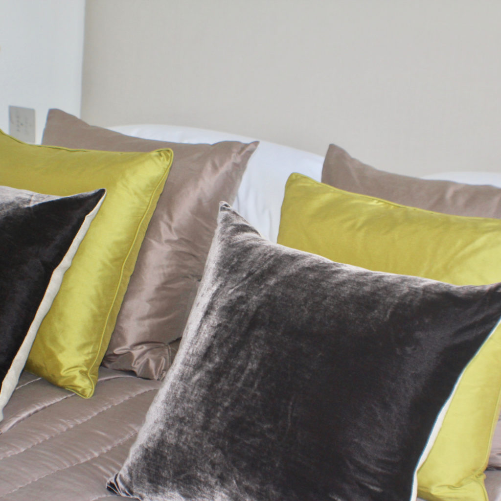 Muswell Hill bedroom cushions