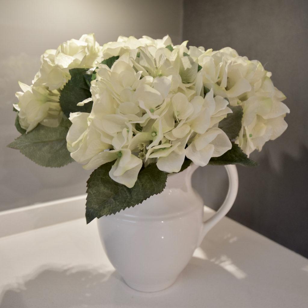 Hydrangeas in jug