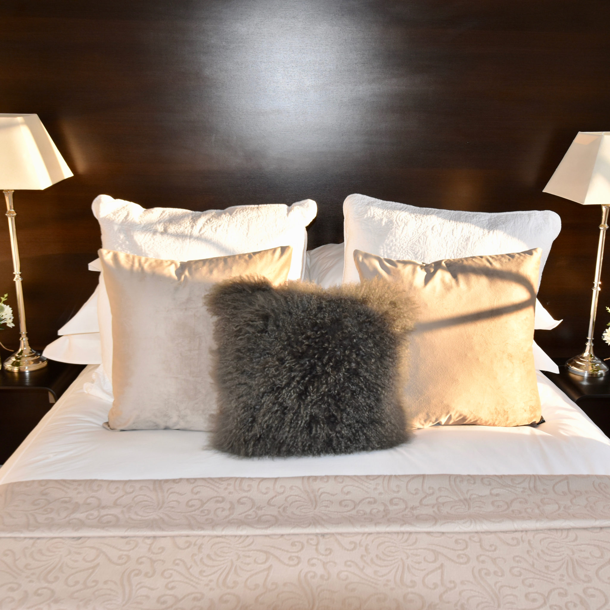 Highgate House bed with cushions