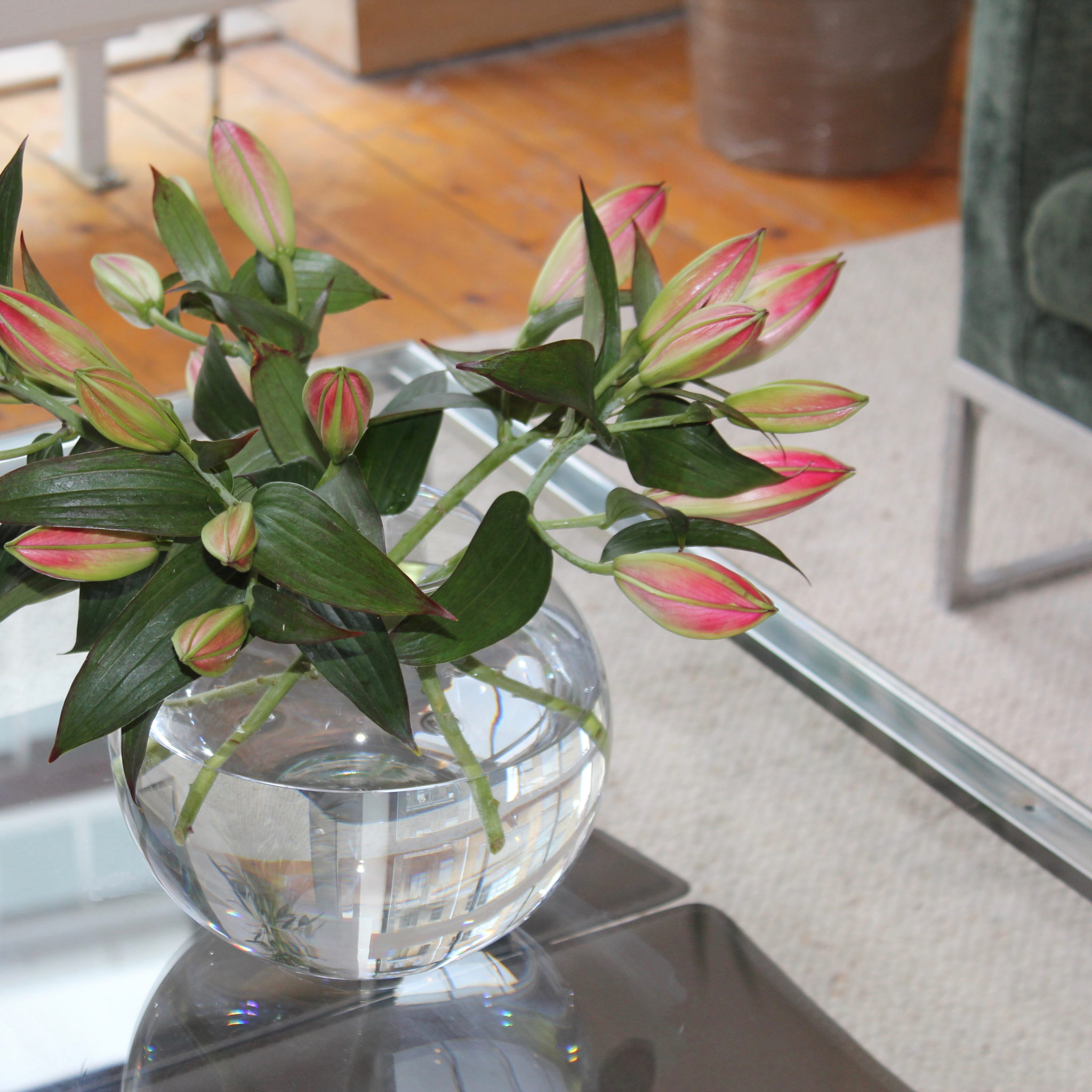 Islington town house flowers in vase