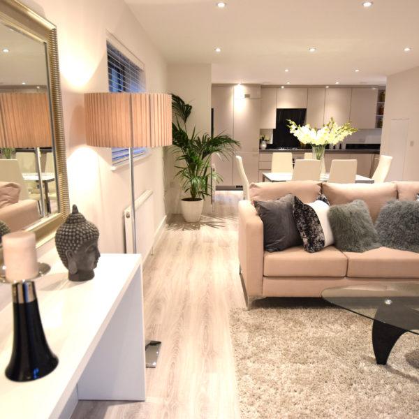 Tottenham show home living room