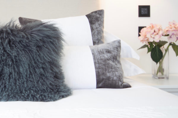 Bed with Mongolian and velvet cushions