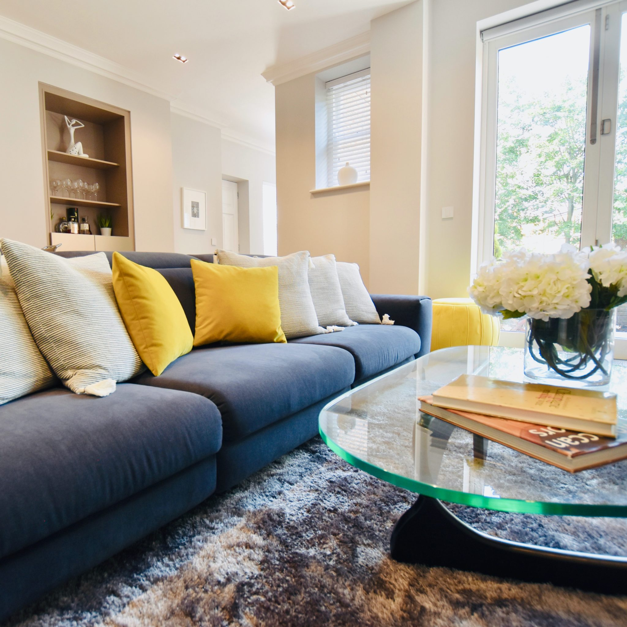 Staged sofa